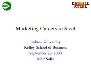 Marketing Careers in Steel
