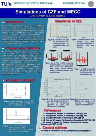 Simulations of CZE and MECC Ernst Kenndler 2  and Jetse Reijenga 1
