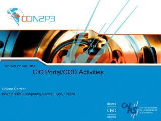 CIC Portal/COD Activities