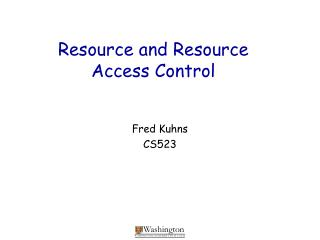 Resource and Resource Access Control