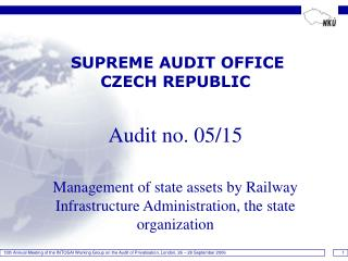 SUPREME AUDIT OFFICE   CZECH REPUBLIC Audit no. 05/15