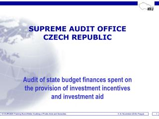 SUPREME AUDIT OFFICE   CZECH REPUBLIC