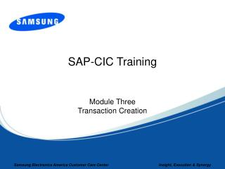 SAP-CIC Training