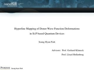 Hyperfine Mapping of Donor Wave Function Deformations  in Si:P based Quantum Devices