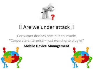 !! Are we under attack !!