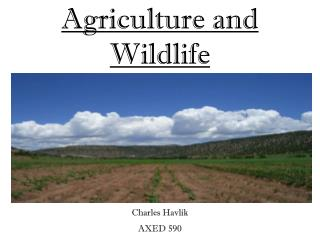 Agriculture and Wildlife