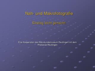 Nah- und Makrofotografie Einstieg leicht gemacht!