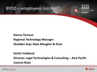 BYOD – employees run riot?