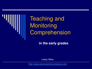 Monitor and Clarify:  A Reading Strategy