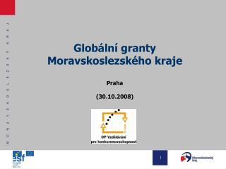 Globální granty  Moravskoslezského kraje Praha  (30.10.2008)