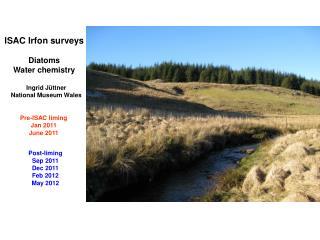 ISAC Irfon surveys Diatoms Water chemistry