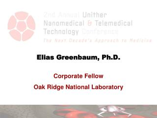 Elias Greenbaum, Ph.D.