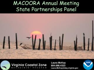 MACOORA Annual Meeting State Partnerships Panel