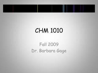 CHM 1010