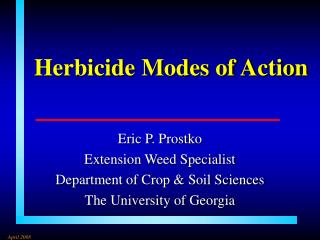 Herbicide Modes of Action
