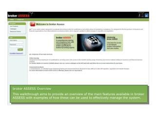 broker ASSESS Overview