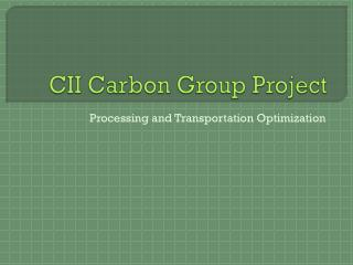 CII Carbon Group Project