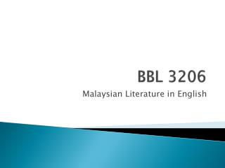 BBL 3206
