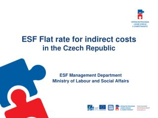 ESF Flat rate for indirect costs in the Czech Republic