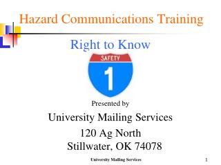 Hazard Communications Training