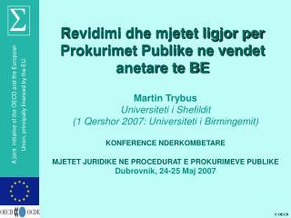 Revidimi dhe mjetet ligjor per Prokurimet Publike ne vendet anetare te BE