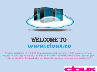 Cloux - Cloud Server Provider