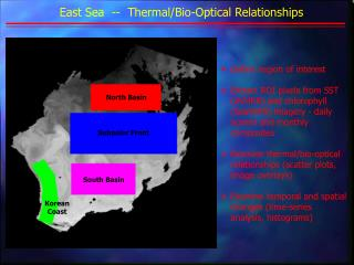East Sea  --  Thermal/Bio-Optical Relationships