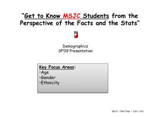 Demographics SP'09 Presentation