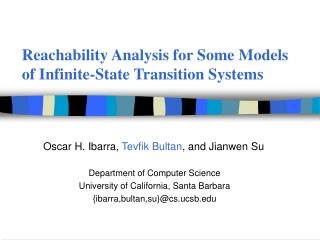 Reachability Analysis for Some Models of Infinite-State Transition Systems
