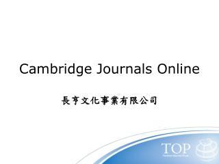 Cambridge Journals Online