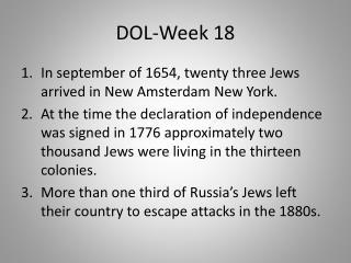 DOL-Week 18