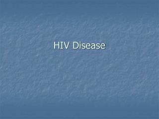 HIV Disease