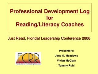 Professional Development Log  for  Reading