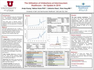 The Utilization of Infobuttons at Intermountain Healthcare – An Update In 2010