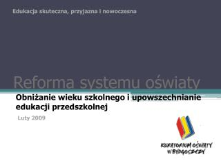Reforma systemu oświaty