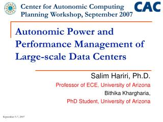 Autonomic Power and Performance Management of Large-scale Data Centers