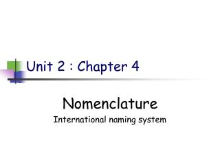 Unit 2 : Chapter 4