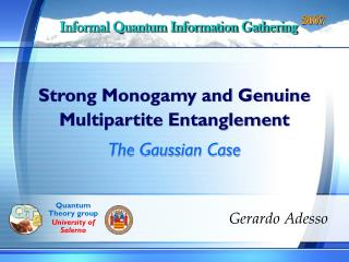 Strong Monogamy and Genuine  Multipartite Entanglement