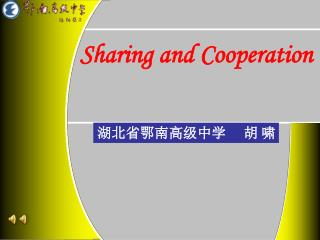 Sharing and Cooperation