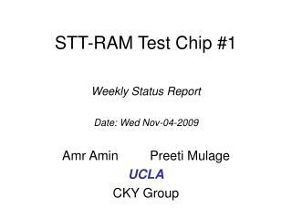 STT-RAM Test Chip #1