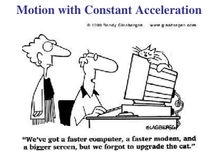 The 5 Kinematic Equations  Only for constant acceleration
