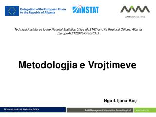 Technical Assistance to the National Statistics Office (INSTAT) and its Regional Offices, Albania