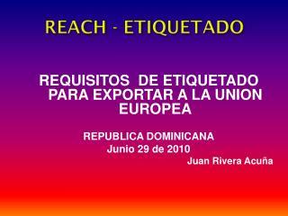 REACH - ETIQUETADO