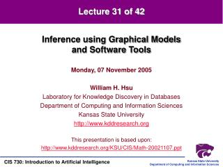 Inference using Graphical Models and Software Tools