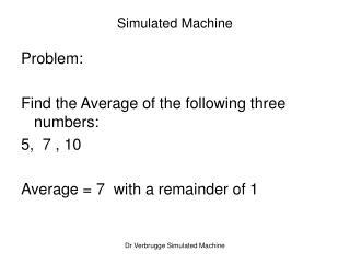 Simulated Machine