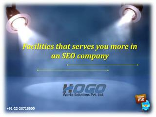 Facilities that serves you more in an SEO company