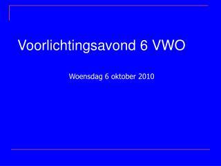 Voorlichtingsavond 6 VWO
