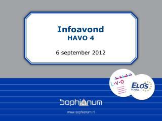 Infoavond HAVO 4