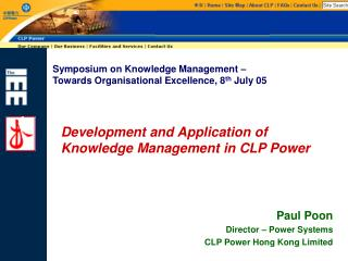 Development and Application of Knowledge Management in CLP Power
