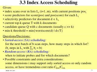 3.3 Index Access Scheduling